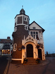 Photo of Guildhall, Lyme Regis and George Somers blue plaque