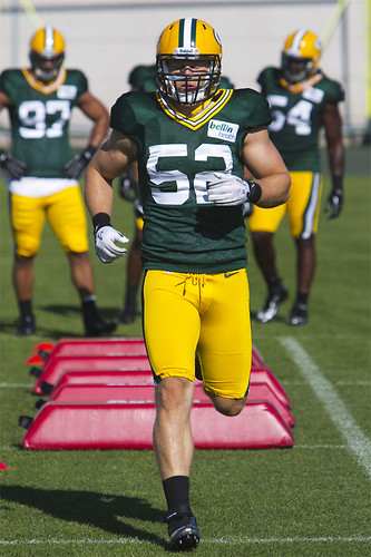 Clay Matthews Green Bay Practice by Ricky L. Jones Photography