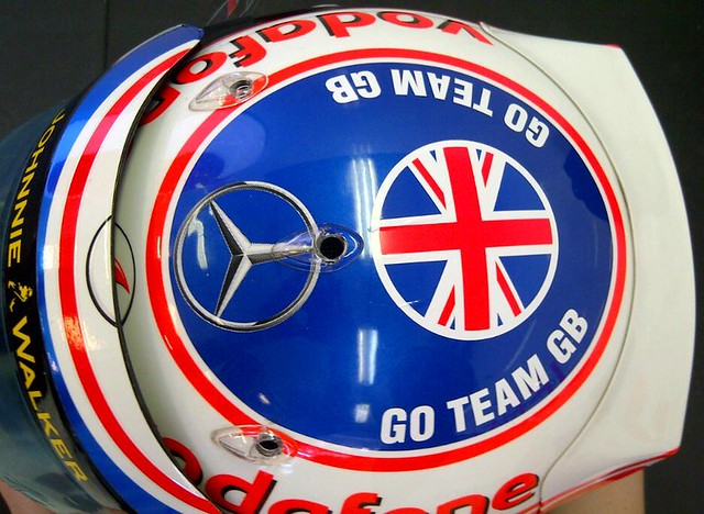 Jenson Button 2012 Hungarian Grand Prix helmet