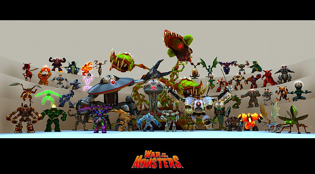 War of the Monsters for PS3 (PSN) - Monster Group Shot