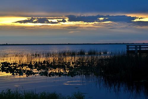 sunset sky sun lake water clouds thegalaxy