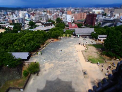 熊本城 天守閣からの眺望