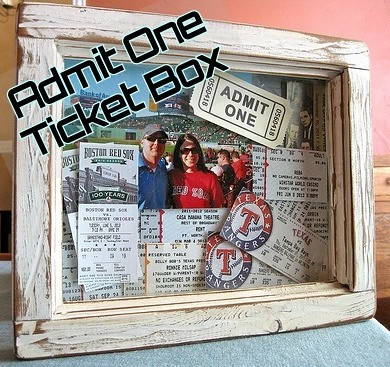 Admit One Ticket Box