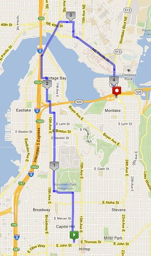 New Monday-Thursday AM route. It's four miles and takes about 80 minutes. by christopher575