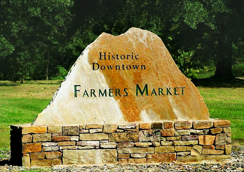 The Historic Downtown Farmers Market in Hot Springs, Arkansas.