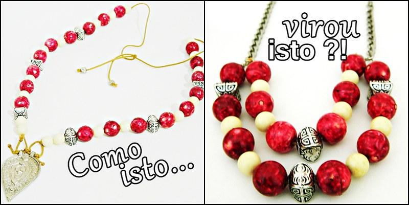 como um colar virou um maxi colar com juliana leite blog DIY faça você mesma bijuteria crie arte