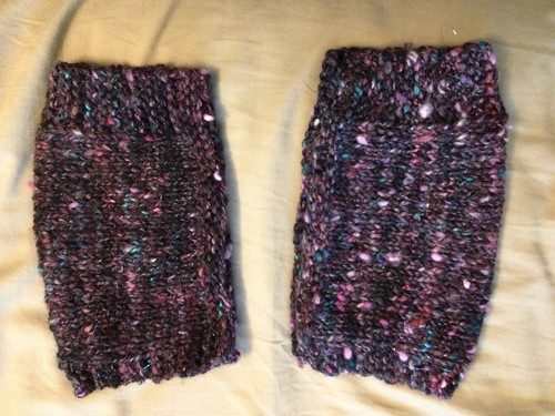 Simple fingerless mittens