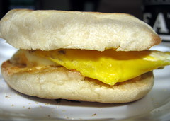 Egg And English Muffin Sandwich.