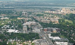 Arlington County, as seen from the air