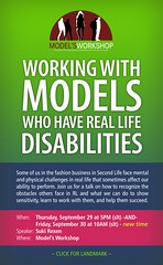 Working with models who have RL disabilities