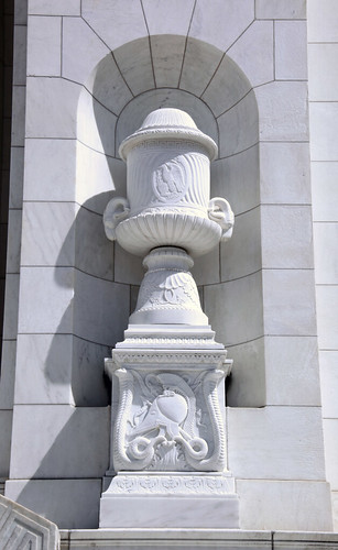 Memorial Amphitheater - south apse decorative urn - Arlington National Cemetery - 2012