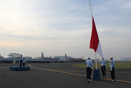 Upacara Bendera 17 April 2012 TNI AU