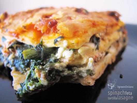 Spinach Feta Tortilla Lasagne