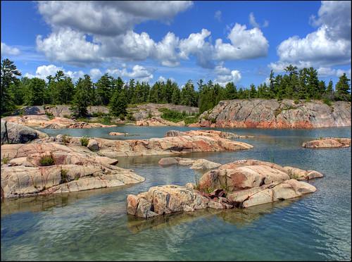 sky ontario tree roddick water rock island bay dale bateman gerogian