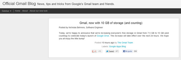 Gmail 10 Gb [facilware]