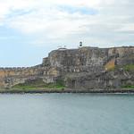 Image of Castillo del Morro Lighthouse near San Juan. lighthouse castle harbor puertorico fort atlantic sanjuan fortress atlanticocean morro elmorro 2012 morrocastle