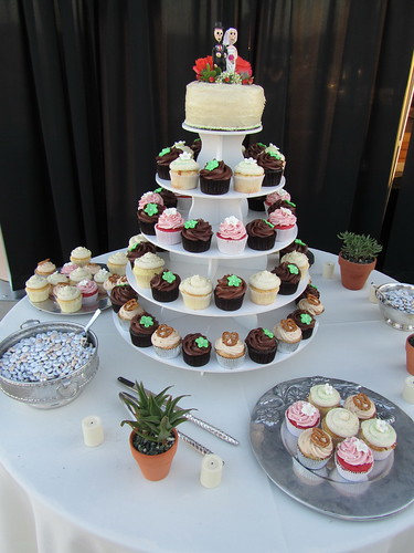 Desert Inspired Wedding Cupcake Tower