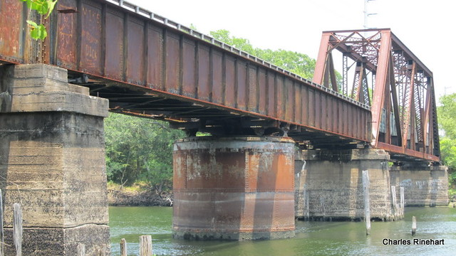 Historic Railroad Bridge On Nature Coast Trail In Old Town Florida