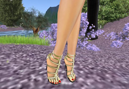 ! Glitterati ! - Forever Heels - Gold by Cherokeeh Asteria