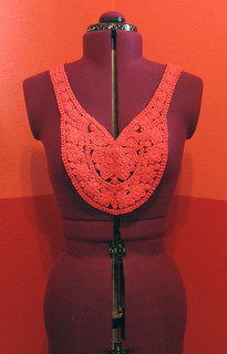 Red Crochet Applique