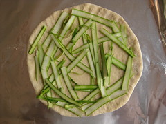 topped with asparagus ribbons