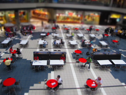 Atlanta: CNN courtyard tilt-shift