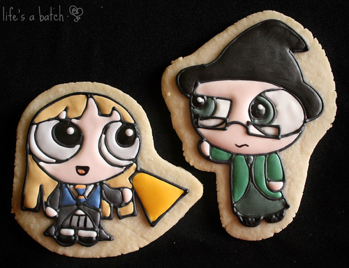 Luna Lovegood & Prof. McGonagall Potterpuff Cookies.