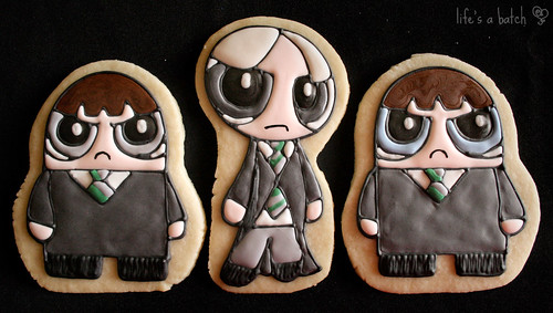 Crabbe, Draco Malfoy & Goyle Potterpuff Cookies.
