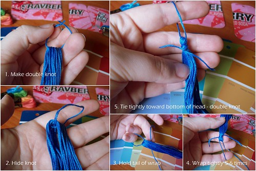 Detailed 5 steps for making tassel