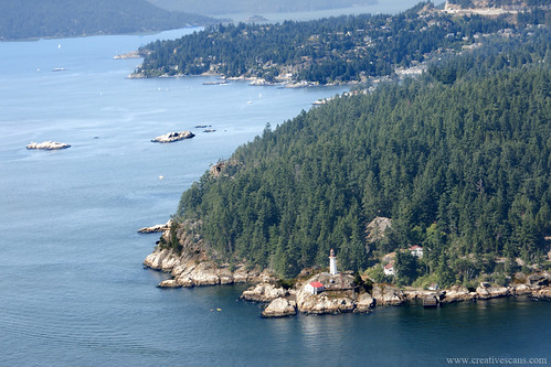 Point Atkinson from the air