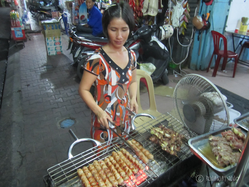 Barbecued meat in Chau Doc