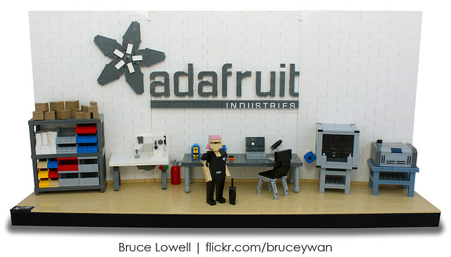 Ladyada's Workshop in LEGO