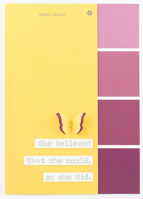 She Believed Card with Paint Swatches