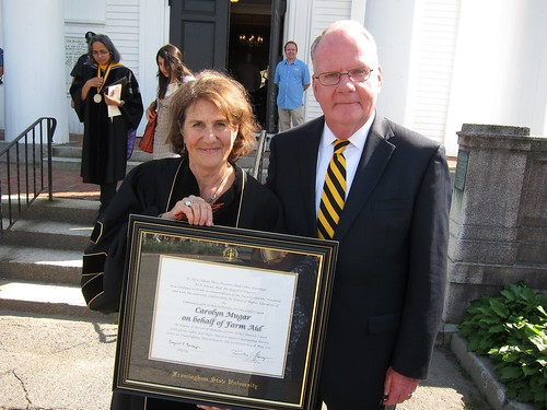 Carolyn and President Flanagan
