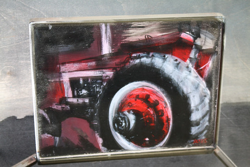 Detail of tractor painting