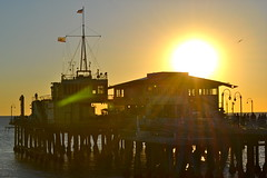 Sunset @ Santa Monica Pier by Pokin' 'RTW