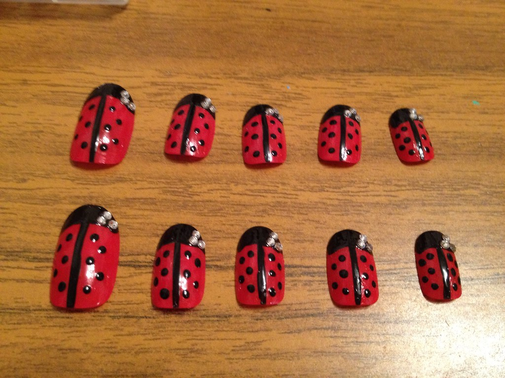 Ladybird | I did these nails for my brothers girlfriend as s… | Flickr
