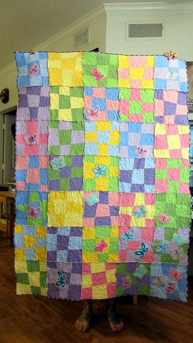 Wonkie Quilt...with my feet