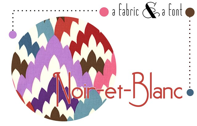 12 - Noir et Blanc and Petal Pusher Brown Flamestitch