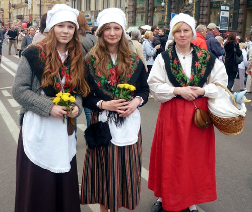 Girls in traditional costume by radzfoto
