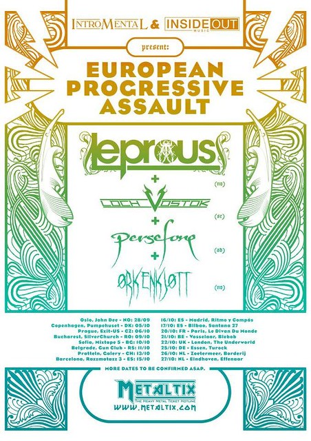 Leprous Loch Vostok Persefone Orkenjott Camden Underworld London ticket gig listings