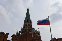 La Tour Troitskaya et le drapeau russe
