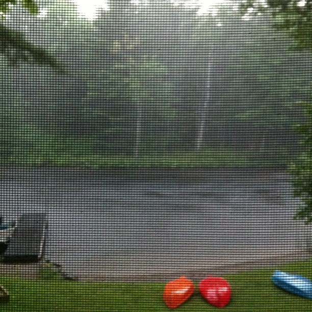 Was just relaxing on an island in Lake Cordova when the worst thunderstorm I've seen years hit us. We had to kayak 2 kilometers back to the cottage in torrential downpour with thunder clapping and lightening striking down around us. Scary and exhilarating