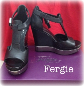 Fergie Marquee t-strap wedges