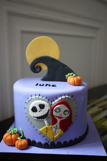 Jack And Sally Baby Shower Cake