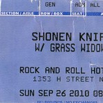 Shonen Knife With Grass Window Rock And Roll Hotel Washington DC September 26 2010 $15