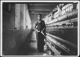 Tony Soccha, a young bobbin boy, been working there a year, November 1911