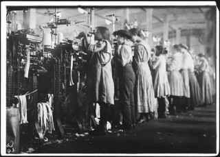 Some of the young knitters in London Hosiery Mills. Photo during work hours. London, Tenn, December 1910
