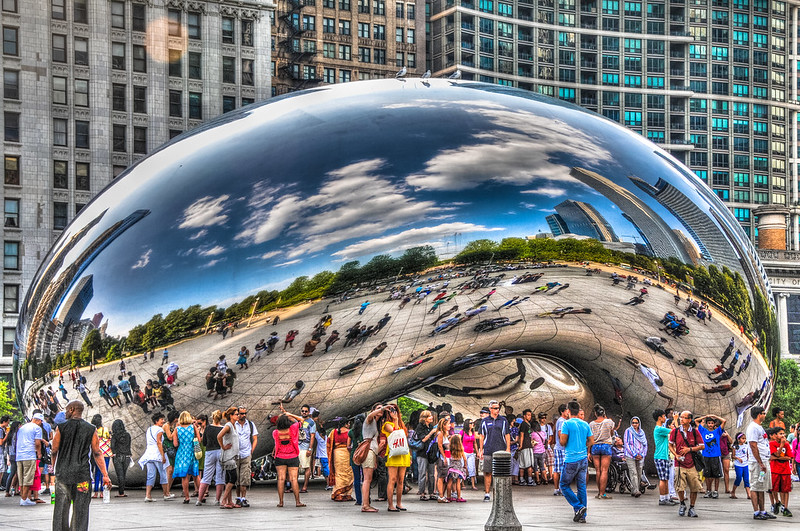 The Cloud Gate Bean at Millennium Park - Chicago IL