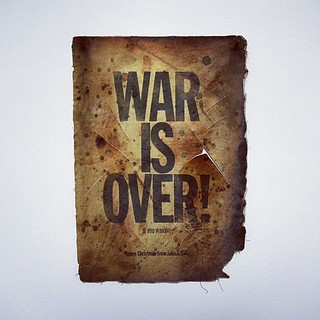 WAR IS OVER! (If You Want It) 1969/2012: In 1969, John and I started my 'War Is Over' campaign, and I have continued to use that work in various ways to the present. But more importantly, the work has progressed into IMAGINE PEACE – and into @IMAGINEPEACE